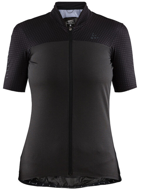 Craft Hale Glow Fietsshirt korte mouwen Dames zwart